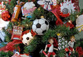 Soccer Themed Christmas Tree Stock Images