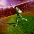 Soccer time Stock Image