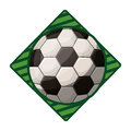 Soccer tournament emblem with ball Royalty Free Stock Photo