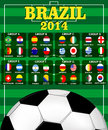 Soccer tournament vector ilustration background Stock Photos