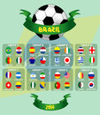 Soccer tournament vector ilustration background Royalty Free Stock Images