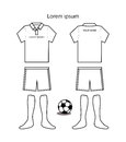 Soccer uniform template the Royalty Free Stock Photo