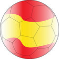 Soccer vector ball spain Stock Photography