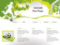 Soccer web site design template Stock Photos