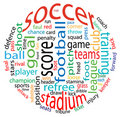 Soccer word cloud Stock Photography