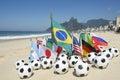 Soccer World Cup 2014 Brazil International Team Flags Rio