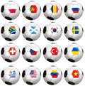 Soccerballs with country flag isolated on white background Royalty Free Stock Photo
