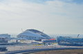 Sochi olympic objects russia february autodrom formula russian grand prix and one year after games Stock Photography
