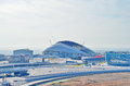 Sochi olympic objects russia february autodrom formula russian grand prix and one year after games Royalty Free Stock Photo