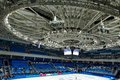Sochi olympic park roza khutor stadium venue winter games in in with the infrastructure Stock Photo