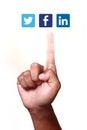 Sociaal voorzien van een netwerk Stock Afbeelding