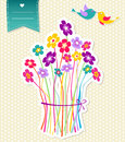 Social birds and flowers template background Royalty Free Stock Images