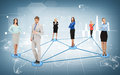 Social or business network and networking concept Stock Photography