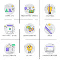 Social Campaign New Idea Development Business Funding Strategy Icon