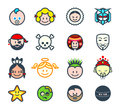 Social characters ii for networks or forum avatars Royalty Free Stock Photo