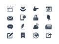 Sociální a komunikace ikony