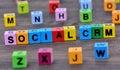 Social CRM words on table