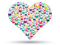 Social heart Royalty Free Stock Photos