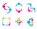 Social icons over white background vector illustration Royalty Free Stock Photo