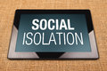 Social Isolation Royalty Free Stock Photo
