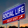 Social life concept. Royalty Free Stock Photography