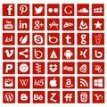Social media app networking logo signs