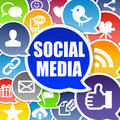 Social Media Background Royalty Free Stock Images
