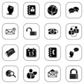Social media&blog icons - B&W series Stock Photography