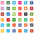Social media business company logo icons