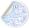 Social media button - label sticker Royalty Free Stock Image