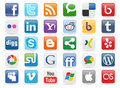 Social Media Buttons [1] Royalty Free Stock Photo