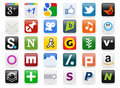 Social Media Buttons [2] Royalty Free Stock Photo