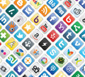 Social media buttons collection of most popular and network Royalty Free Stock Photo