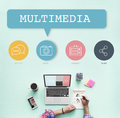 Social Media Buttons Icons Concept Royalty Free Stock Photo