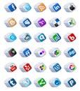 social media buttons set