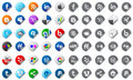 Social media buttons set Stock Images