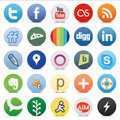 Social media buttons zip includes dpi jpg illustrator cs eps vector with transparency Royalty Free Stock Photography