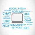 Social media chat forums abstract background Stock Images