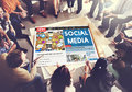 Social Media Communication Networking Online Concept Royalty Free Stock Photo