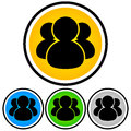 Social media community people icon for character forum themes Stock Images