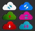 Social Media Computing Clouds Royalty Free Stock Images