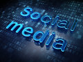 Social media concept blue social media on digital background d render Stock Photo