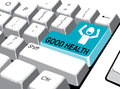 Social media concept: Enter button with good health on computer Royalty Free Stock Photo