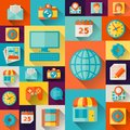 Social media concept illustration in flat design style Royalty Free Stock Photos