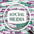 Social media concept illustration graphic tag collection wordcloud collage Stock Photography