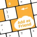 Social media concept: Keyboard with Add As Friend button Royalty Free Stock Photo