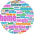 Social media concept. Social Media Wordcloud Stock Image