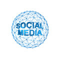 Social media on d sphere Stock Image