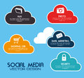 Social media design over blue background vector illustration Royalty Free Stock Image
