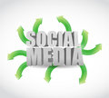 Social media destinations concept illustration design over white Royalty Free Stock Image